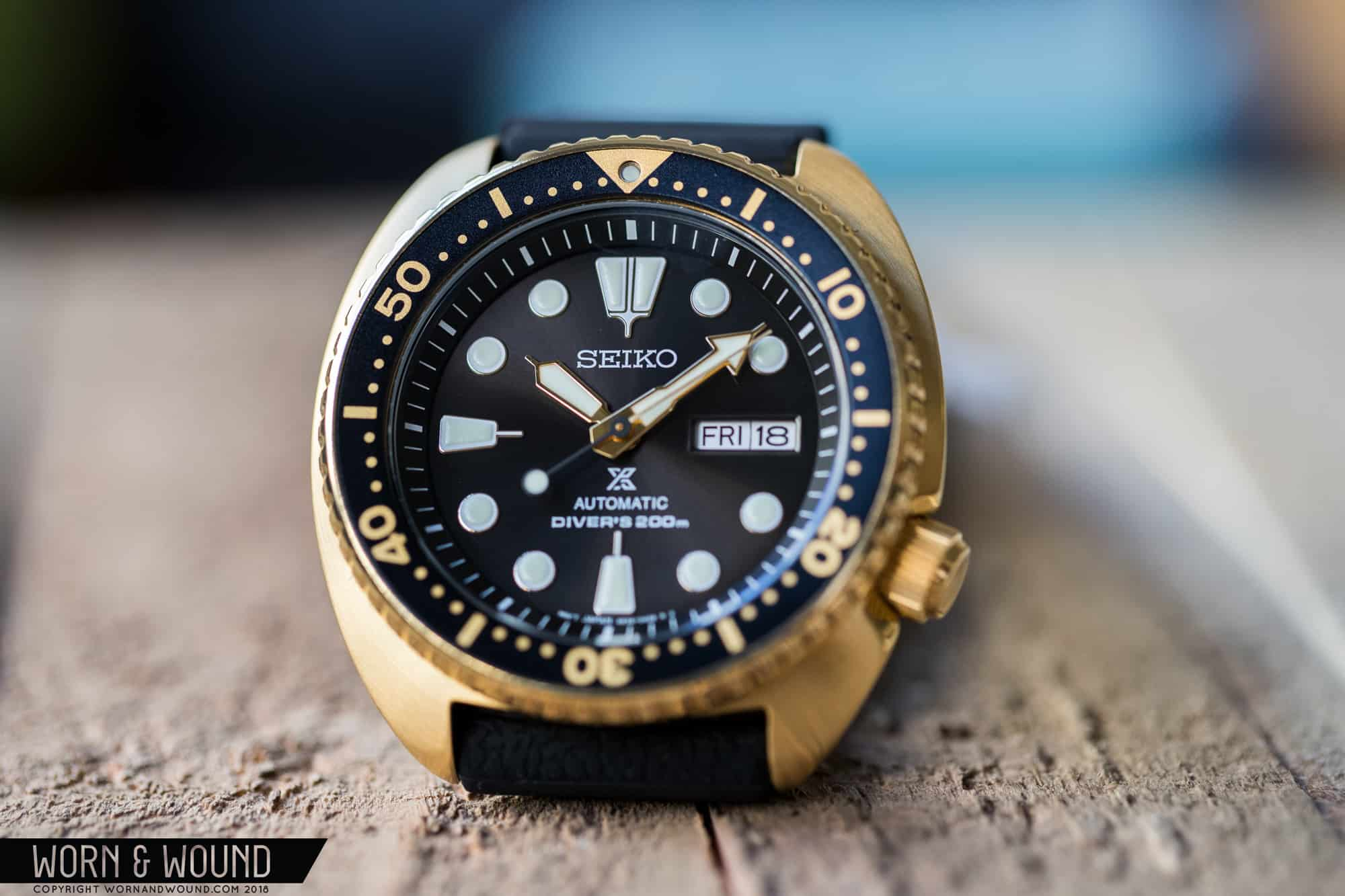 "Hands-On (Video) With the Seiko Prospex ref. SRPC44 ""Golden Turtle"""