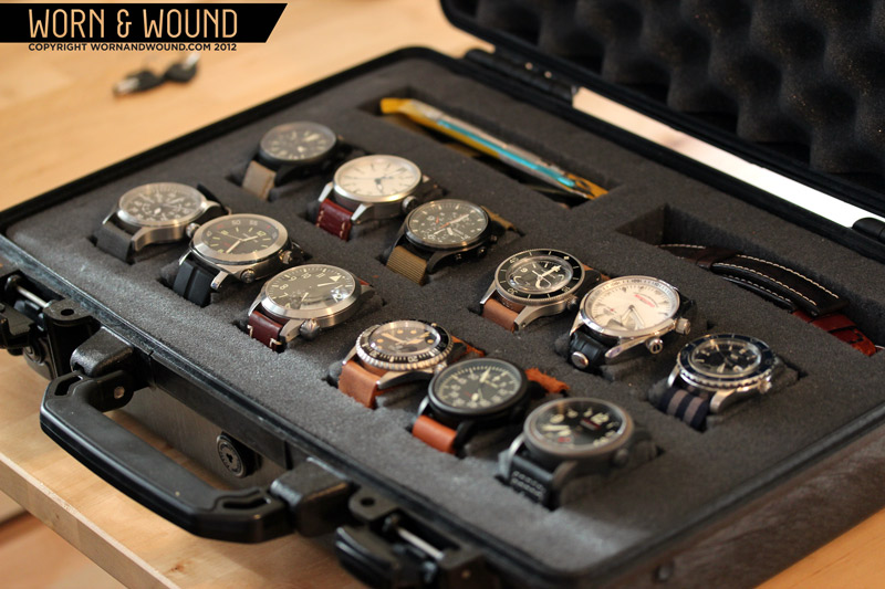 Diy pelican watch case for Watches box