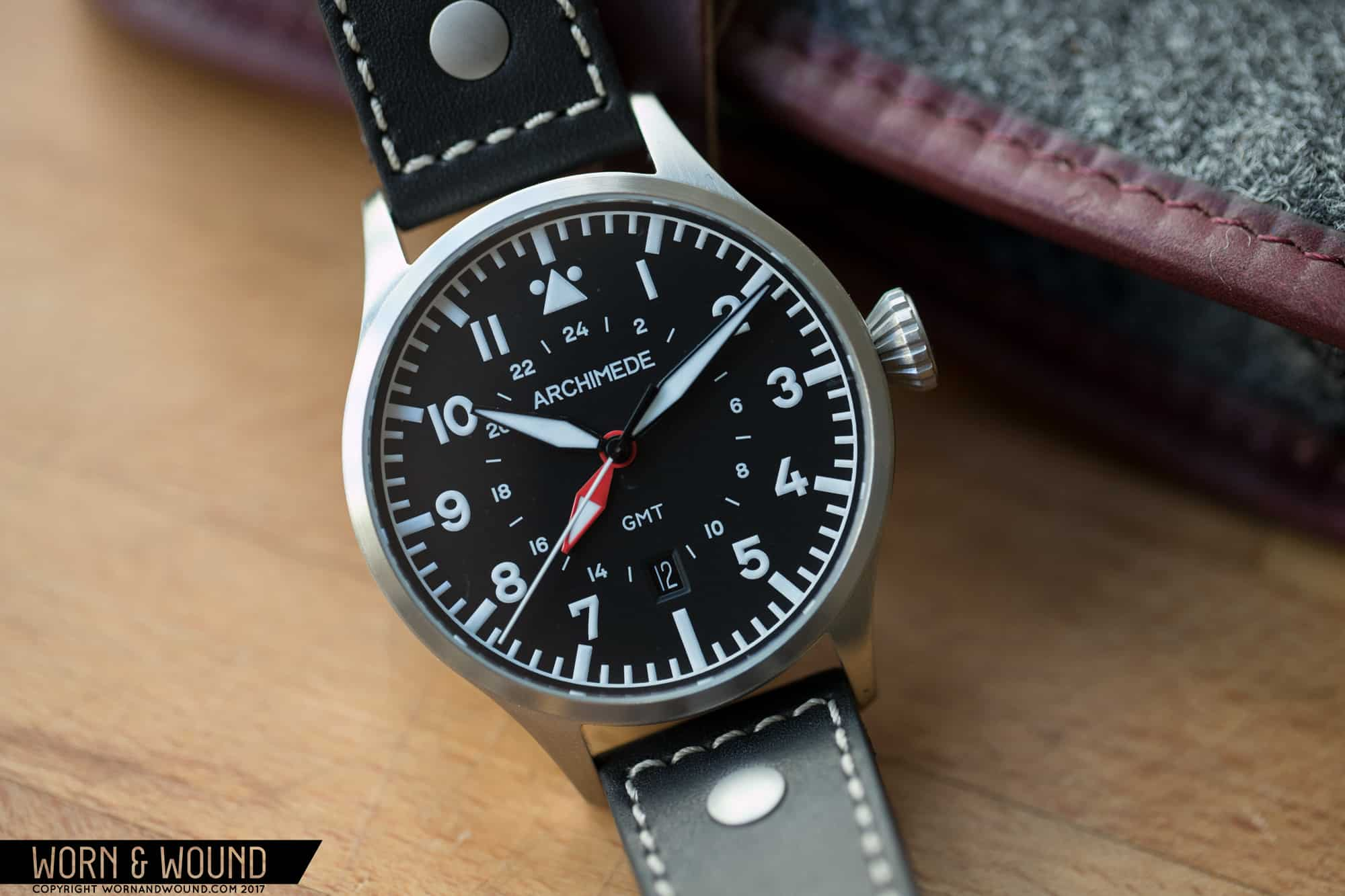 Hands on with the archimede pilot 42 gmt worn wound for A archimede