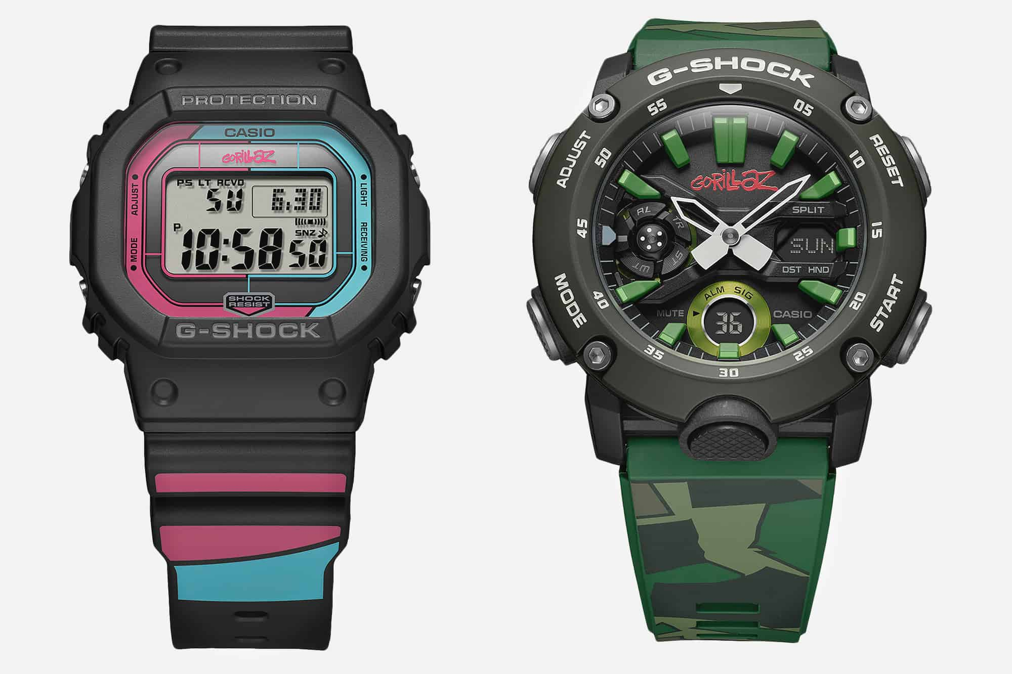 Introducing the Casio G-Shock Gorillaz Collection