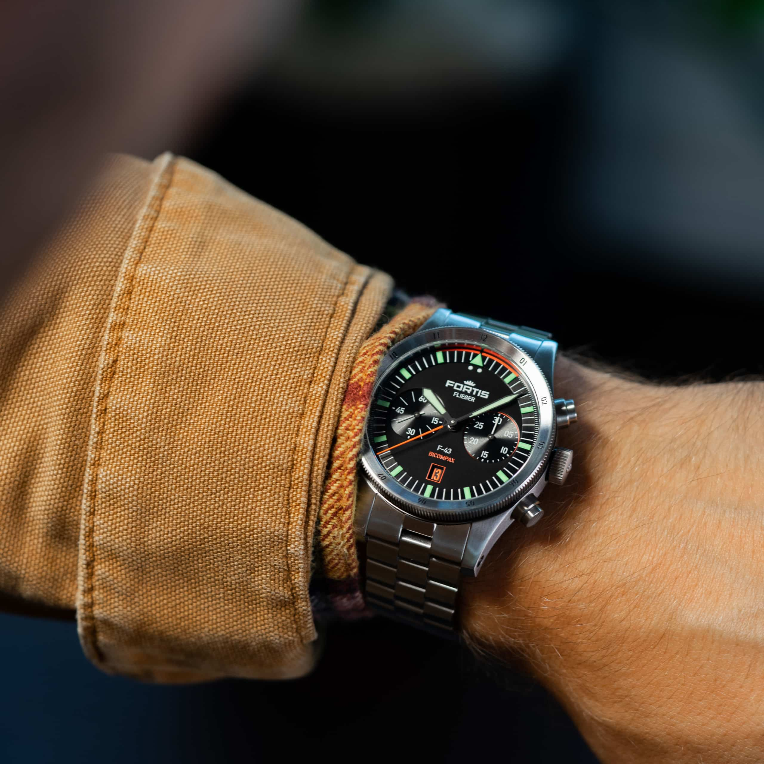 Introducing The Fortis Flieger F-43 Bicompax Chronograph